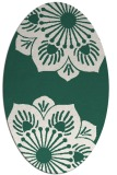 rug #502189 | oval blue-green popular rug
