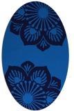 rug #502225 | oval blue rug
