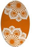 rug #502249 | oval orange rug