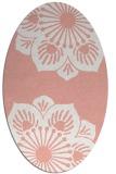 rug #502277 | oval pink rug