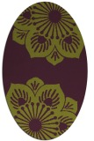 rug #502285 | oval purple graphic rug