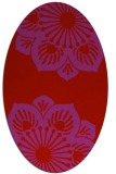 rug #502309 | oval red graphic rug