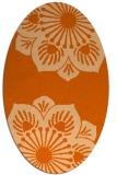 rug #502317 | oval red-orange natural rug