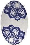 rug #502337 | oval white natural rug