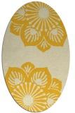 rug #502345 | oval yellow graphic rug
