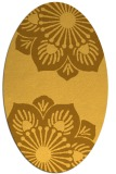 rug #502361 | oval yellow natural rug