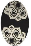 rug #502365 | oval black rug