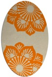rug #502373   oval orange natural rug