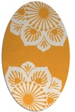 rug #502405 | oval light-orange natural rug