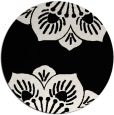 rug #502765 | round black natural rug