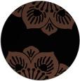 rug #502777 | round black graphic rug