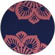 rug #502853 | round blue-violet rug