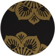 rug #502877 | round mid-brown graphic rug