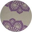rug #502941 | round purple natural rug