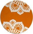 rug #502953 | round orange graphic rug