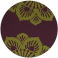rug #502989 | round green graphic rug