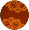 rug #503017 | round red-orange natural rug