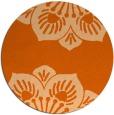 rug #503021 | round red-orange rug