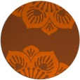 rug #503025 | round red-orange natural rug