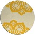 rug #503049 | round yellow graphic rug