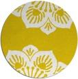 rug #503061 | round yellow popular rug