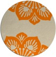 rug #503077   round orange natural rug
