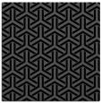 rug #505233 | square black retro rug