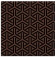rug #505241 | square brown retro rug