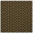rug #505245 | square brown retro rug