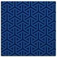 rug #505393 | square blue retro rug
