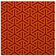 rug #505413 | square orange retro rug