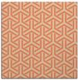 rug #505421 | square orange retro rug