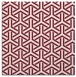 rug #505437 | square pink retro rug