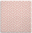 rug #505445 | square white retro rug