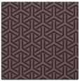 rug #505457   square purple retro rug