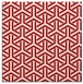rug #505465 | square red retro rug