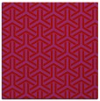rug #505477 | square red retro rug