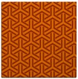 rug #505481 | square red-orange rug