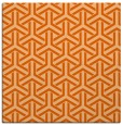 rug #505485 | square red-orange geometry rug
