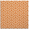 rug #505493 | square red-orange geometry rug