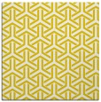 rug #505525 | square yellow retro rug