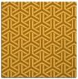 rug #505529 | square light-orange retro rug