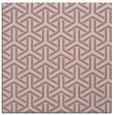 rug #505565 | square pink retro rug