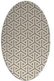 rug #505577 | oval white geometry rug