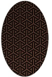 rug #505593 | oval black retro rug