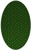 rug #505648   oval retro rug