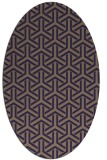 rug #505685 | oval beige geometry rug