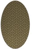 rug #505697 | oval brown retro rug