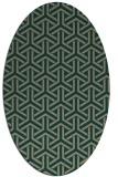 rug #505700 | oval retro rug