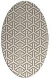 rug #505717 | oval white geometry rug